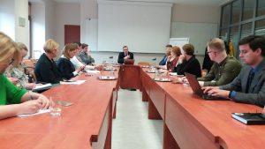 NVO tarybos narių susitikimas su ministru L. Kukuraičiu