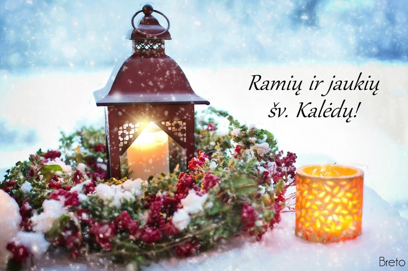 Ramių ir jaukių šventų Kalėdų visoms Lietuvos bendruomenėms!