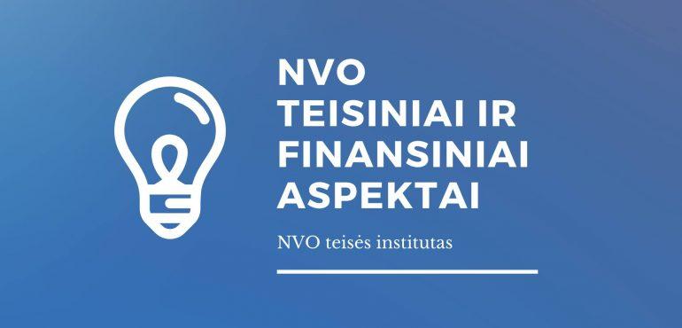NVO veiklos teisiniai ir buhalteriai aspektai