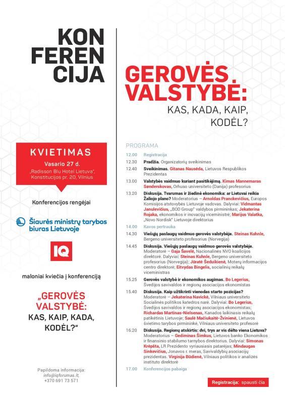 """Kkonferencija """"GEROVĖS VALSTYBĖ: KAS, KADA, KAIP, KODĖL?"""""""