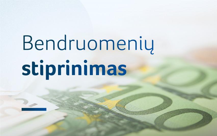 """Dėl SADM priemonės """"Remti bendruomeninę veiklą savivaldybėse 2020"""" karantino laikotarpiu"""