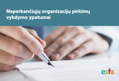 Parengtas naujas leidinys apie neperkančiųjų organizacijų pirkimus