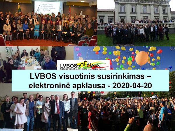 LVBOS visuotinis susirinkimas elektroninio balsavimo būdu