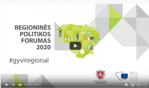 Regioninės politikos forumas Dubingiuose