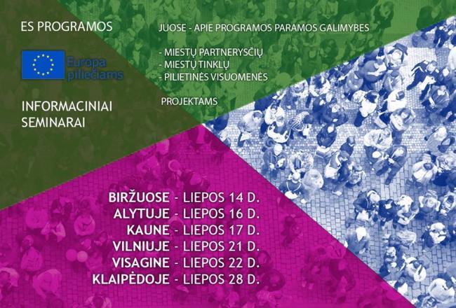 Kviečiame į Europa piliečiams programų seminarus