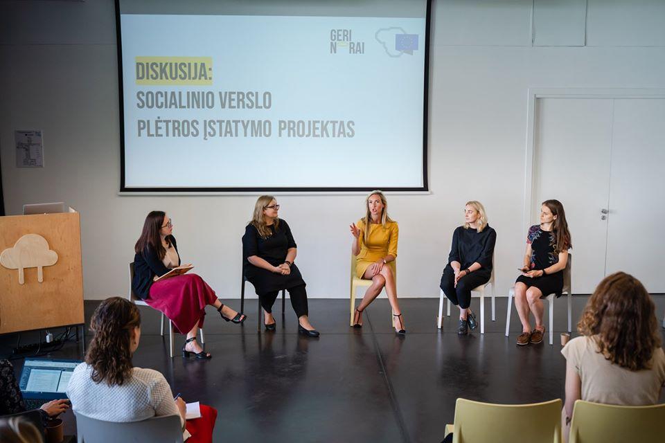 Diskusija apie Socialinio verslo plėtros įstatymo projektą