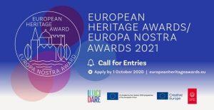 Valstybinė kultūros paveldo komisija ragina teikti paraiškas 2021 m. Europa Nostra apdovanojimams