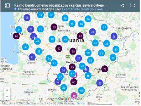 Atnaujinta kaimo bendruomenių duomenų bazė