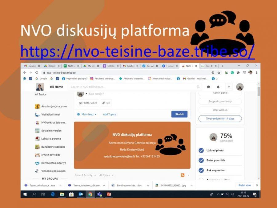 NVO diskusijų platforma