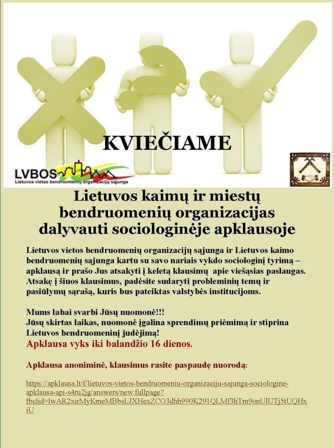 LVBOS pratęsia sociologinę apklausą dėl viešųjų paslaugų perdavimo