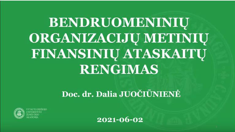 Seminaras metinių ataskaitų teikimo klausimais