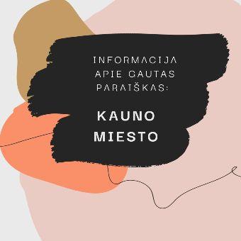 Read more about the article Informacija apie Kauno miesto savivaldybės gautas paraiškas