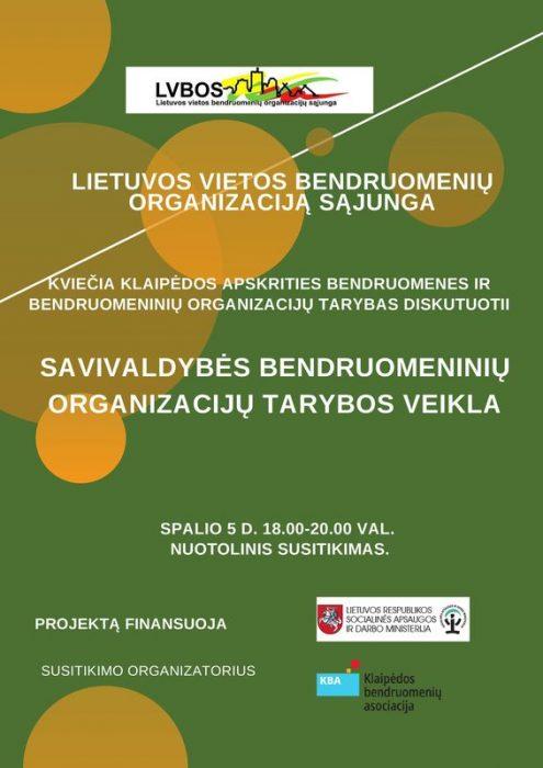 Read more about the article Susitikimas su Klaipėdos regiono bendruomeninių organizacijų tarybų atstovais