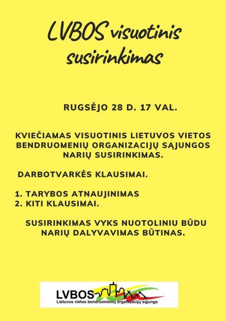 Read more about the article Kviečiamas visuotinis LVBOS susirinkimas